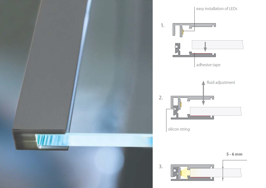 Led Shelving And Signature Lights Pure Light Led Products